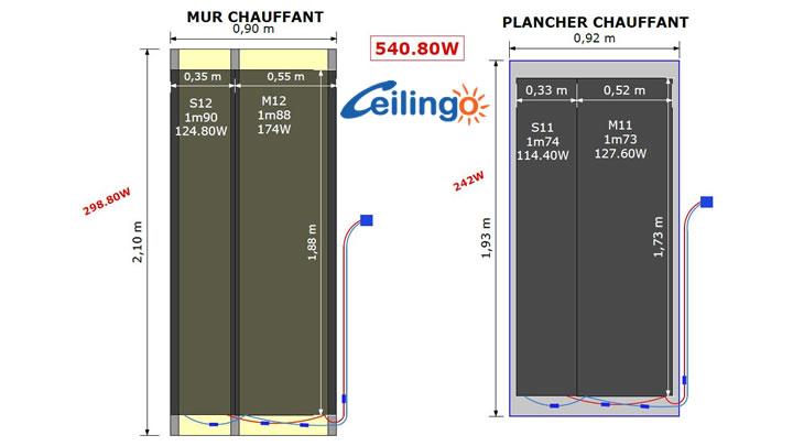 www.plafondchauffant.fr - plancher et mur chauffant dans une salle ... - Calepinage Salle De Bain